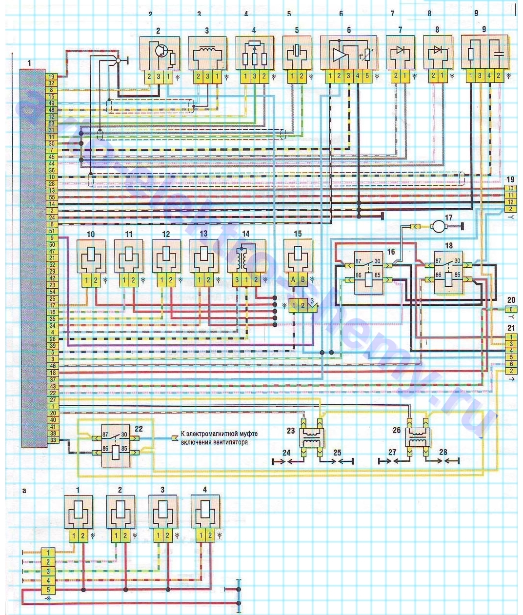 электро схема подсединения тахометра авто кия спортего