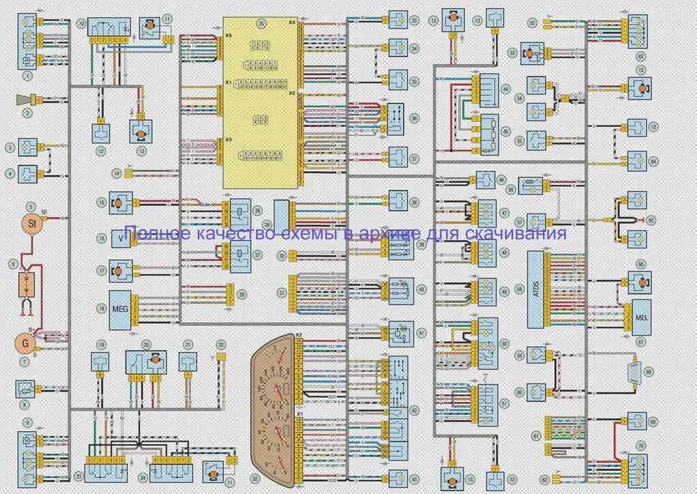 Электросхема ВАЗ-2123 - Нива