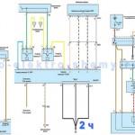 Cхема системы управления АКПП Hyundai Santa-Fe 2,4л