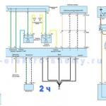 Cхема системы управления АКПП Hyundai Santa-Fe 2,7л