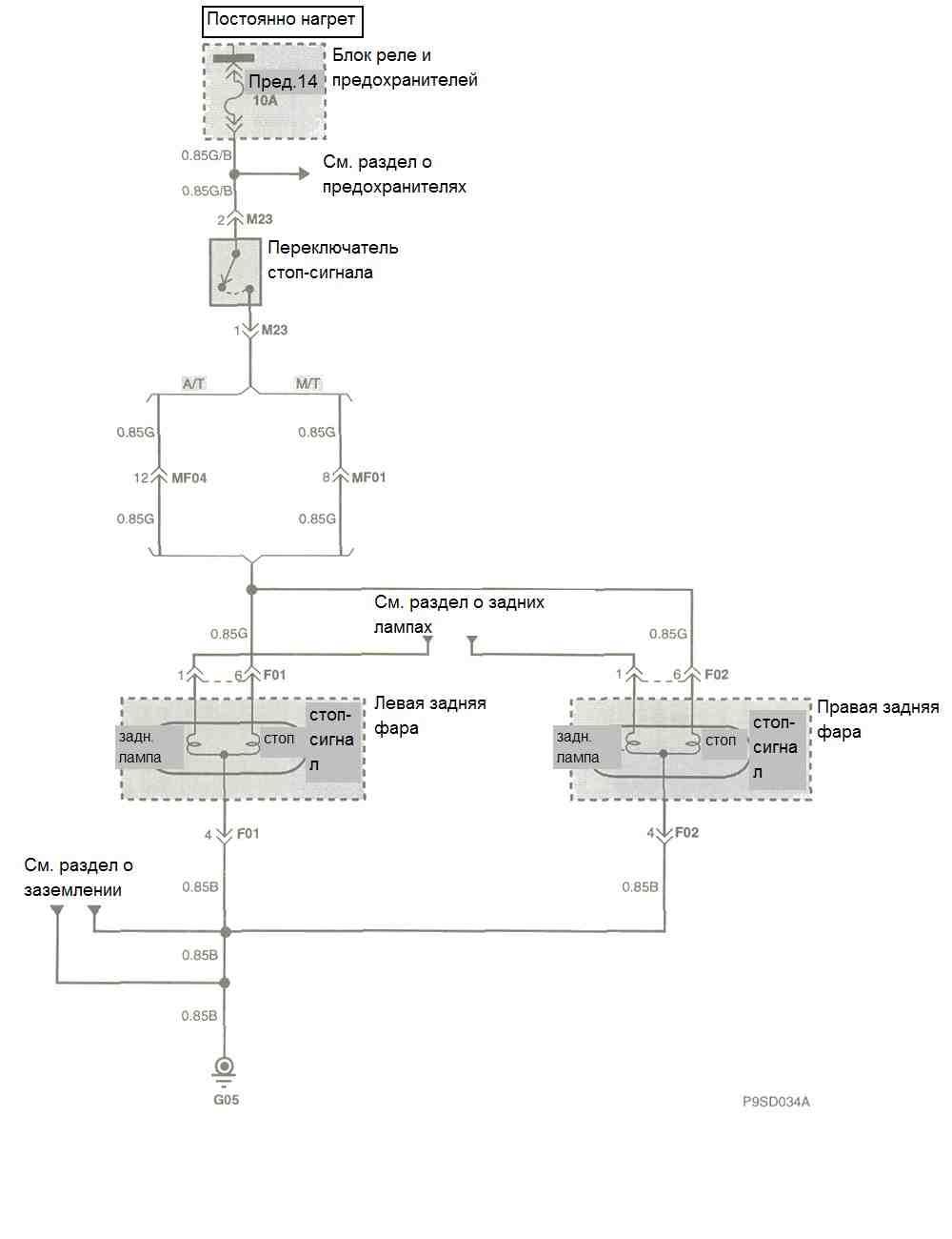 монтажна схема шевроле лачетти