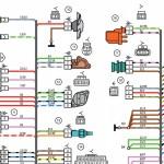 Электросхемы Лада Калина люкс, фрагмент для примера