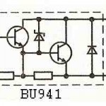 схема транзистора - BU941