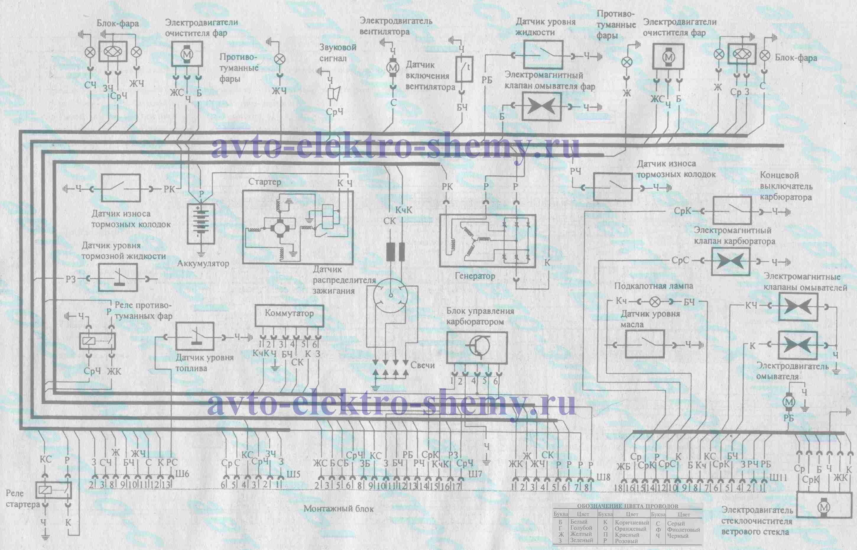 монтажный блок ВАЗ-21099, ВАЗ-21099i