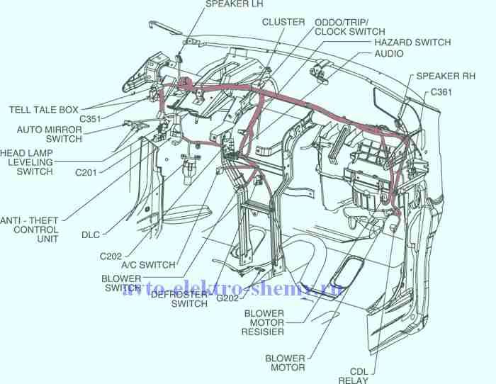 Похожие авто электро схемы