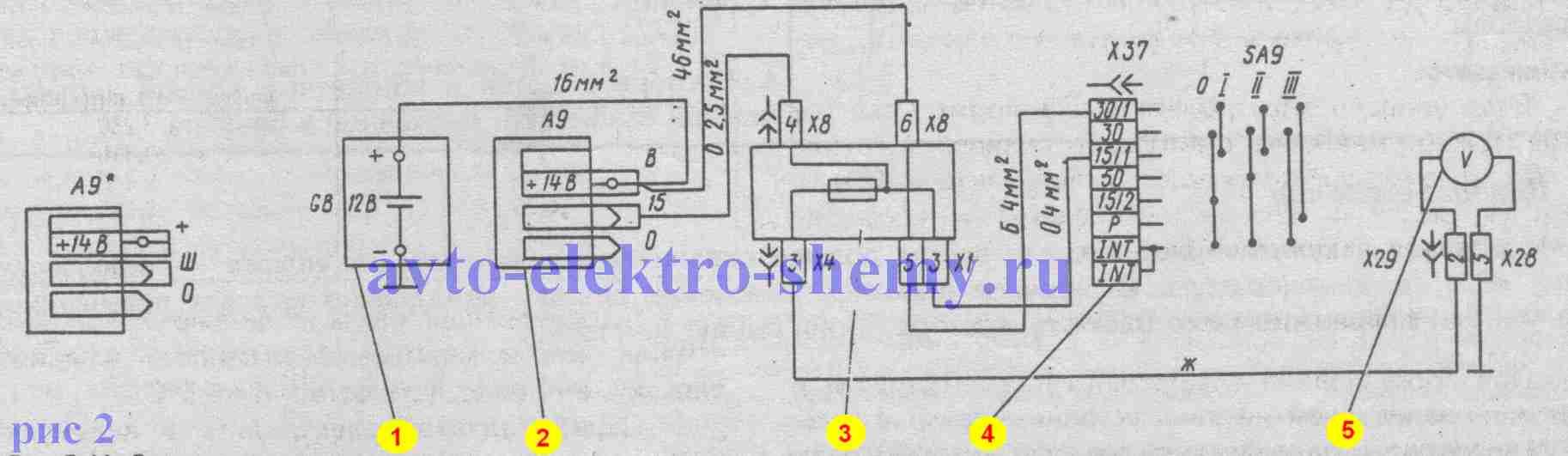 электрическая схема генератора Г-222