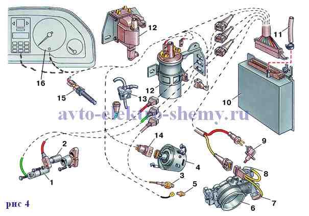 элементы электронного зажигания audi-100