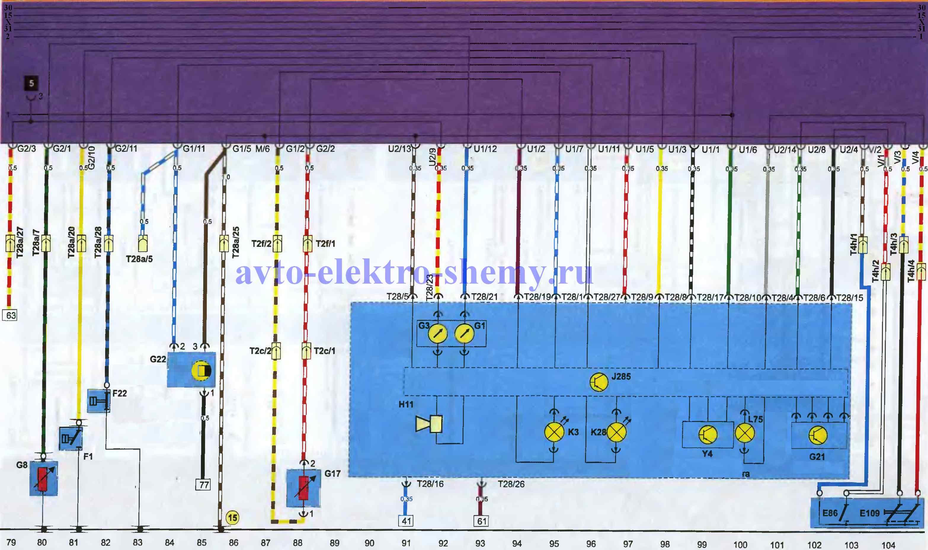 Приборный щиток,датчики универсального показывающего прибора автомобилей Фольксваген Пассат 1988-96г.в.
