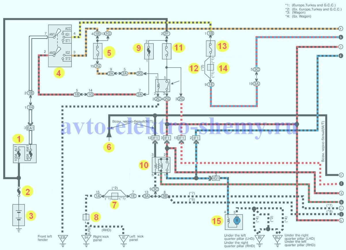 система управления двигателем автомобилей Toyota Corolla рис.1