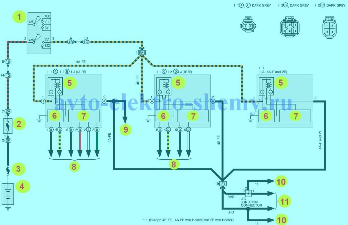 Электросхемы тойота королла: подробные схемы и расшифровка обозначений.