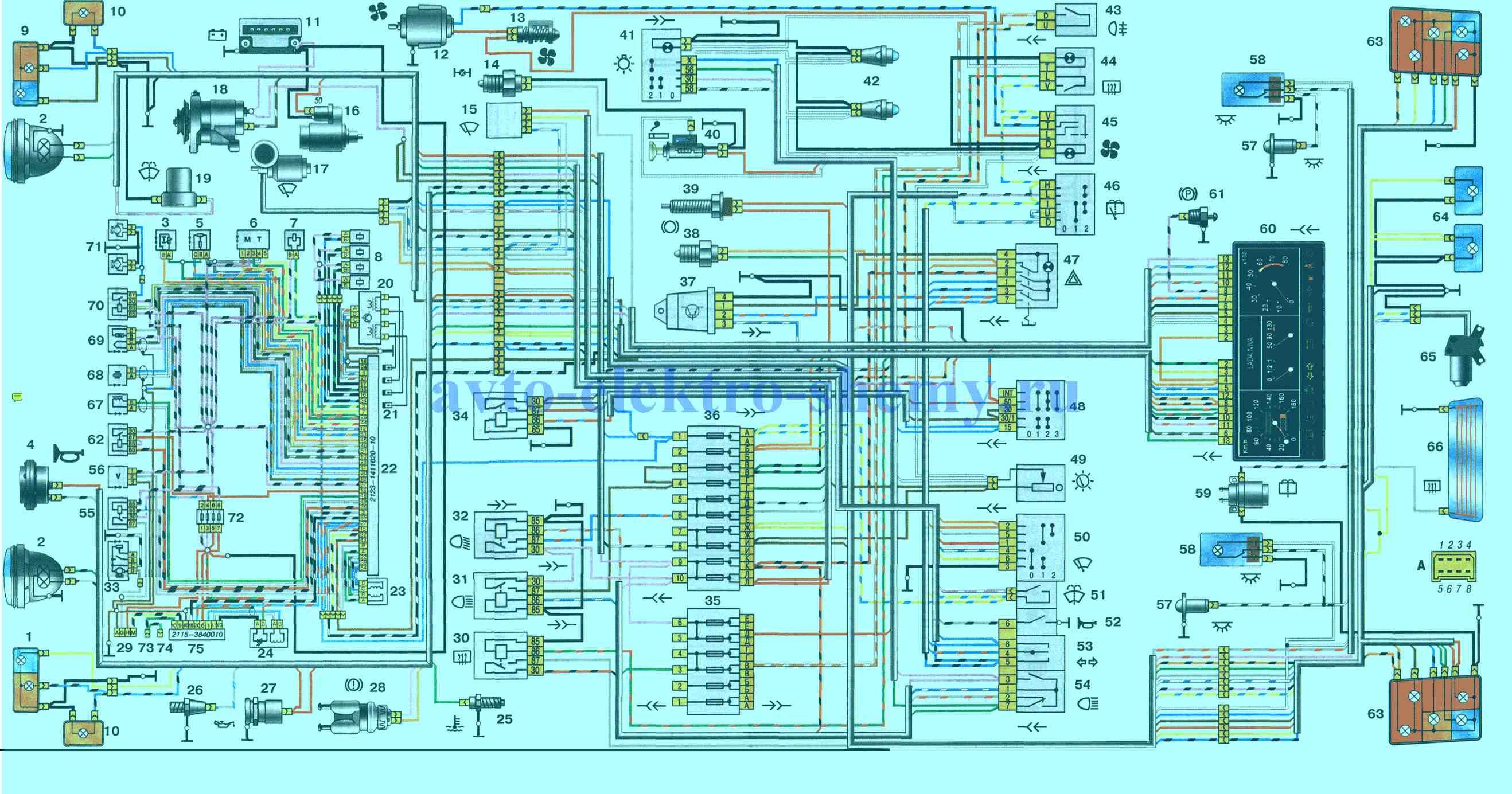Электросхема ВАЗ-21214 (НИВА)