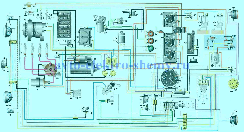 Электросхема УАЗ-469