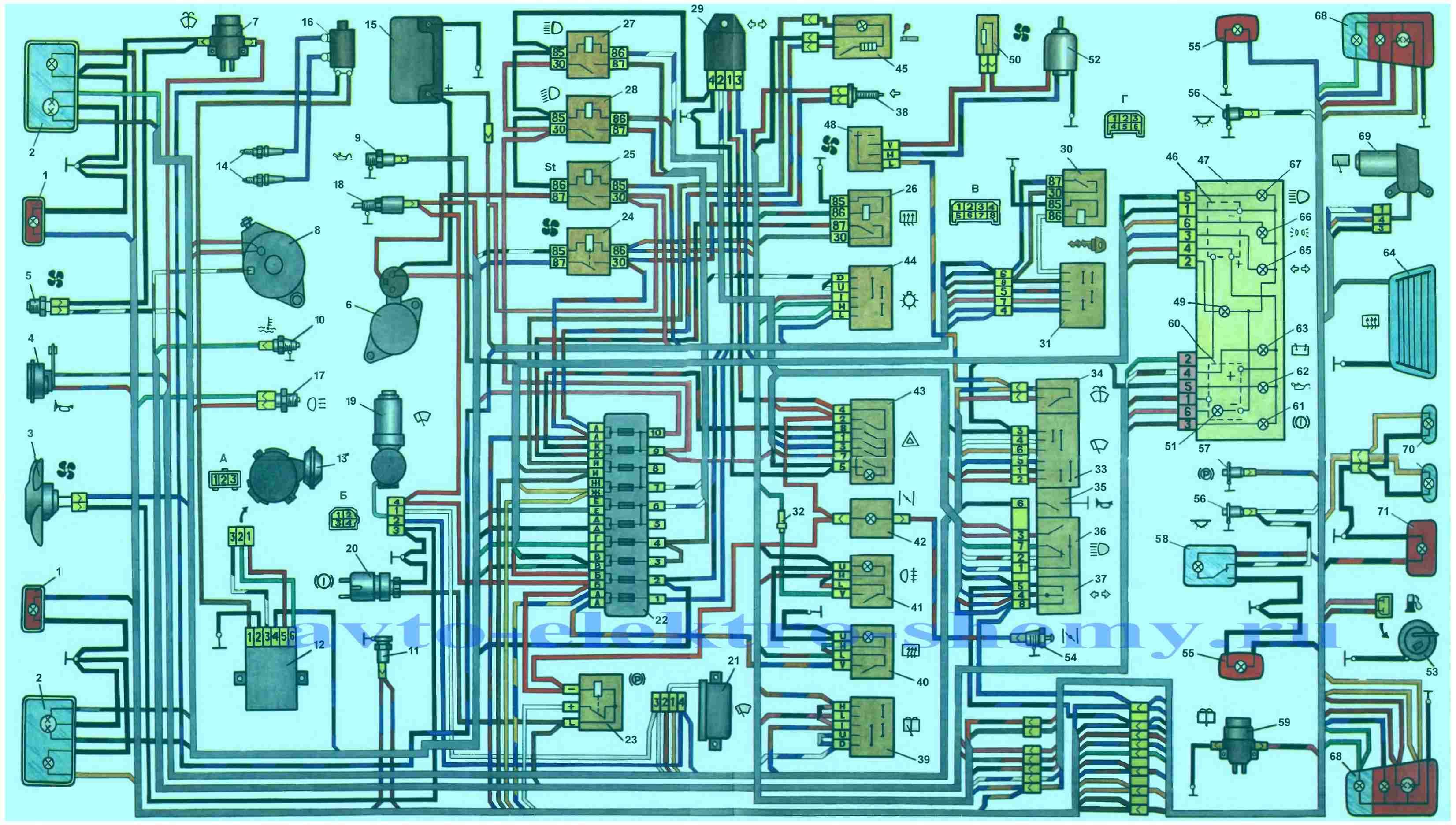 электрическая схема ворот daspi