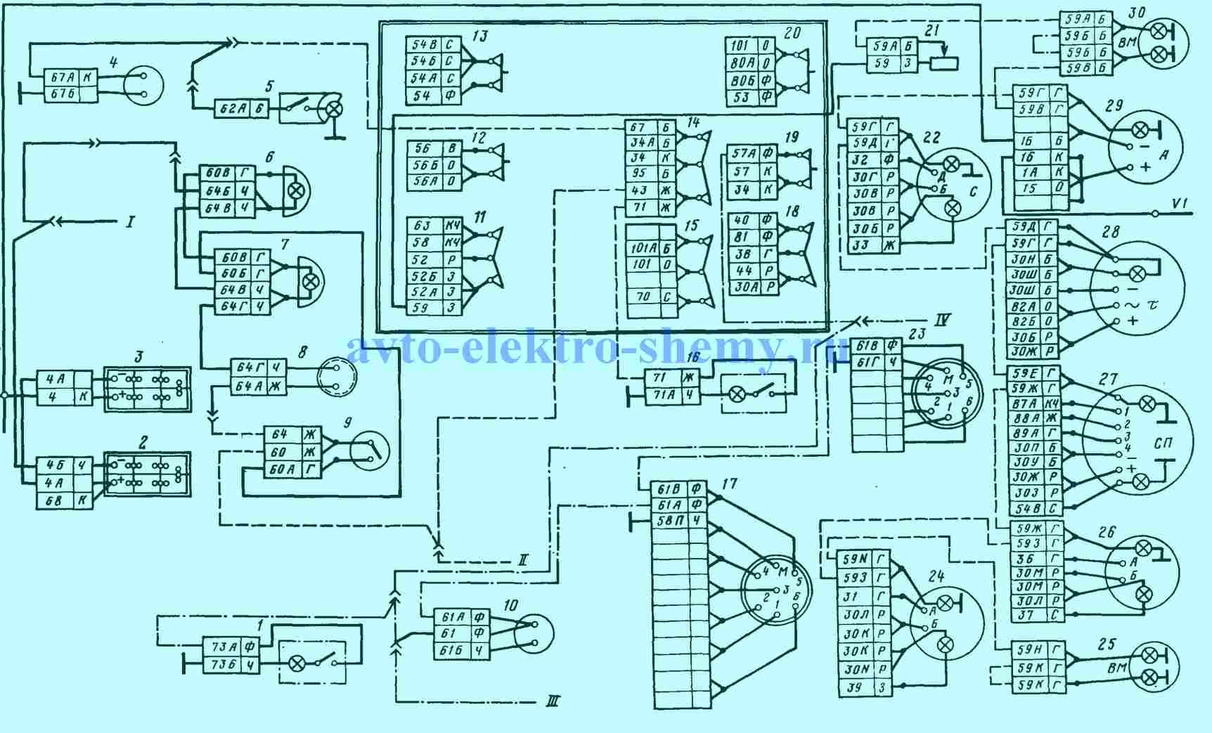 Рис. 2. Система внутреннего освещения Камаза