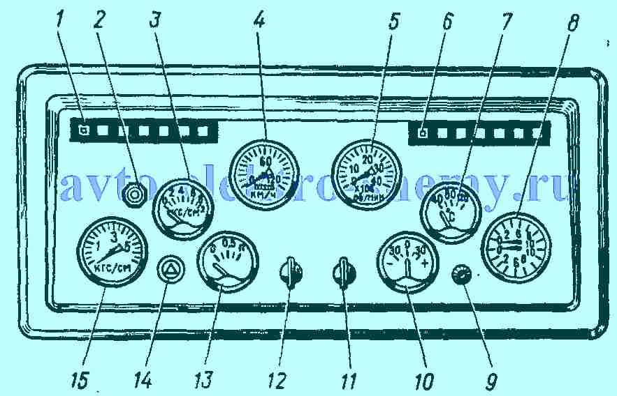 электросхема камаз 43101 цветная