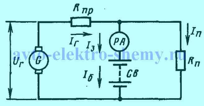 Электрическая принципиальная схема системы электроснабжения, КАМАЗ