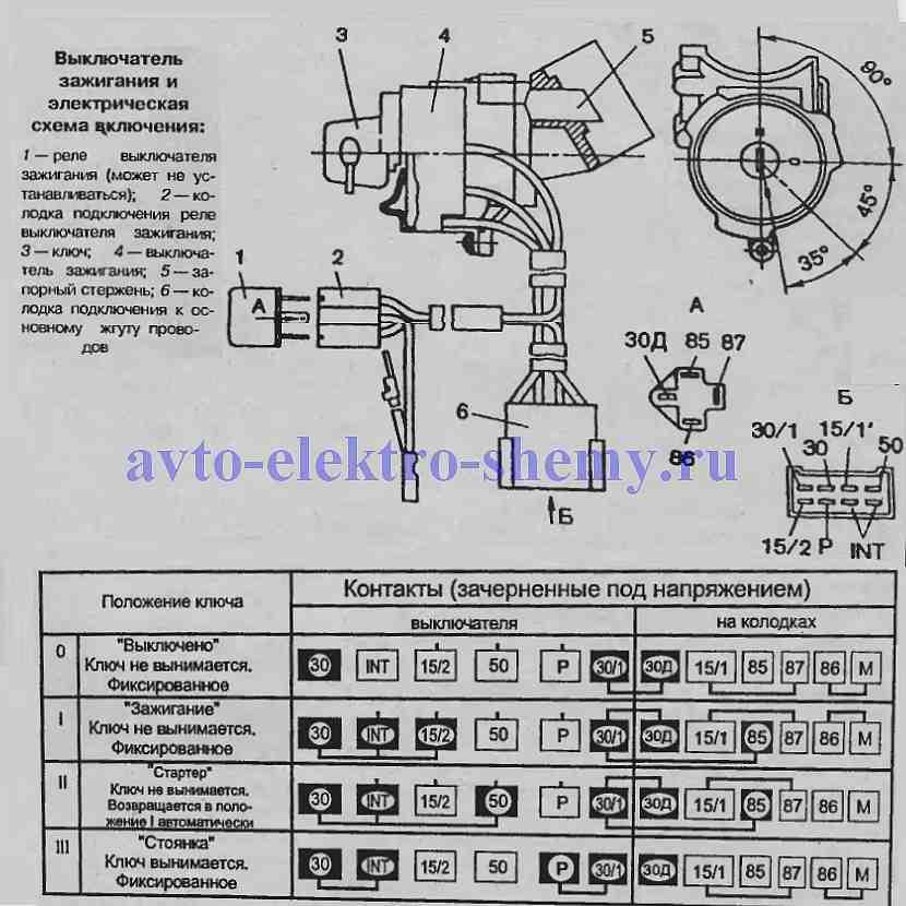 Замок зажигания ЗАЗ-1102 (1105)