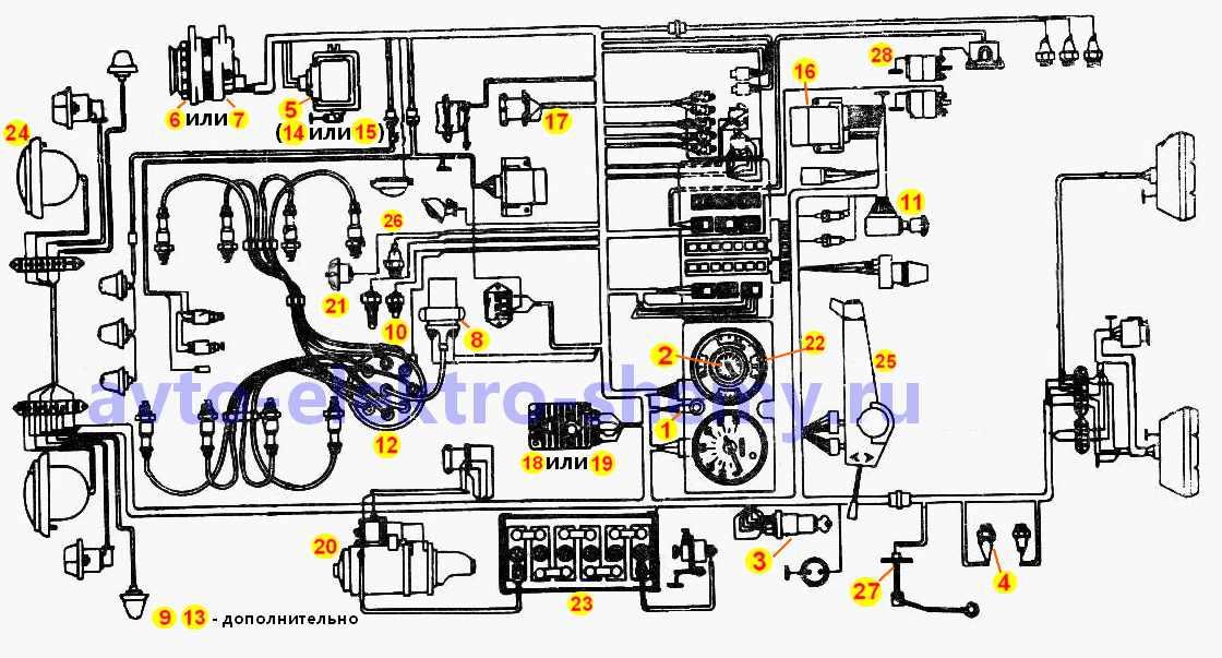Схема электрооборудования ЗИЛ-