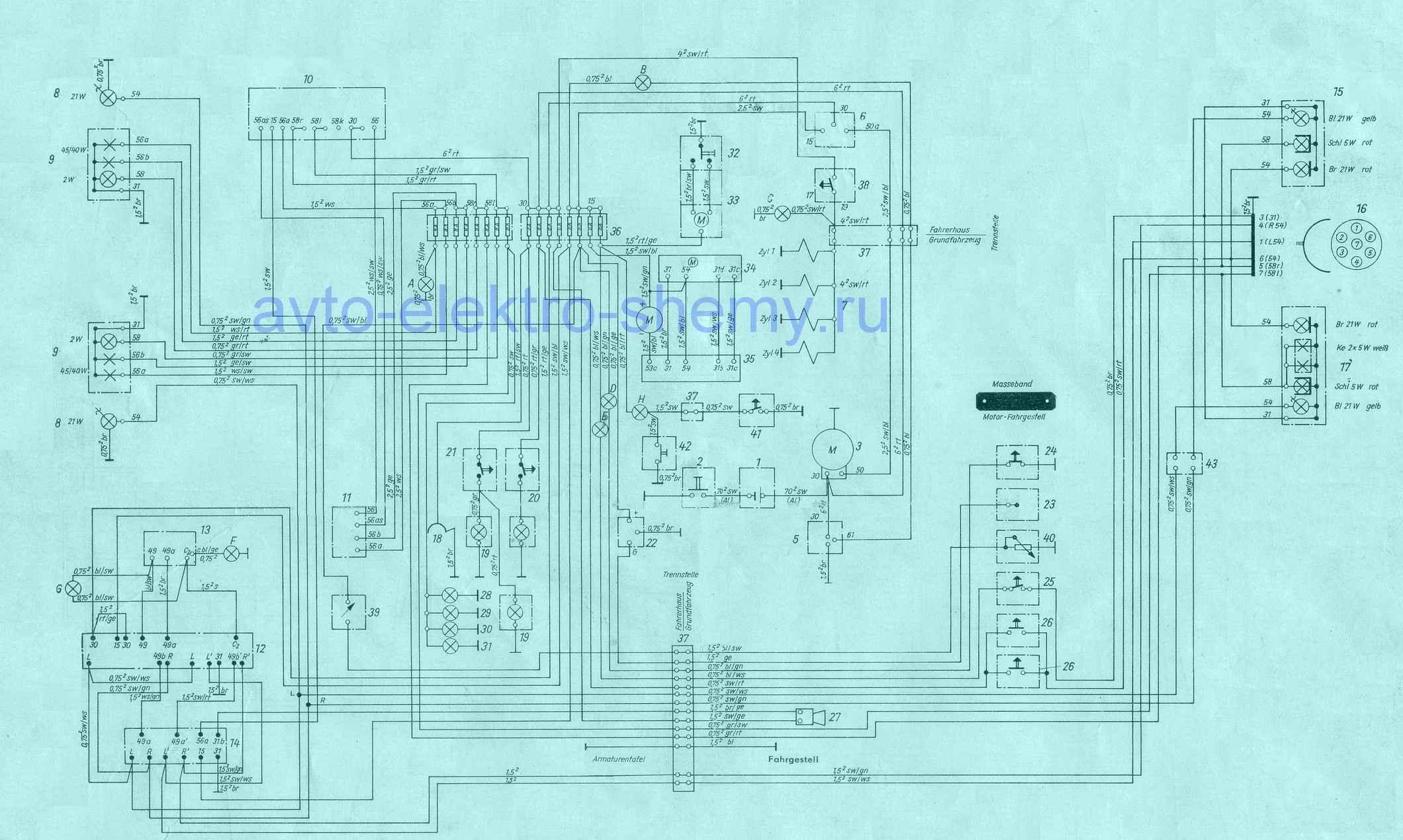 Электросхема автомобиля ifa_m25